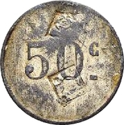 50 Centimes - Cantine Nani Calo Smadja, Metlaoui – reverse