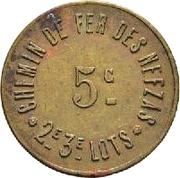 5 Centimes - Nefzas Railway - Bourraqui Entreprise – reverse