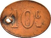 10 Centimes - Aquaviva Oued Zargua – reverse