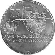 Token - Daimler Benz 75 years – obverse
