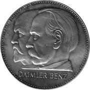 Token - Daimler Benz 75 years – reverse