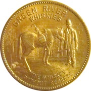 Advertising Token - Green River Whiskies – obverse
