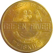 Advertising Token - Green River Whiskies – reverse