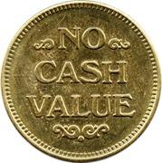 Token - No Cash Value (Eagle looking right; 25 mm; Brass; big stars) – reverse