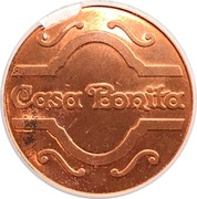 Token - Casa Bonita (Copper plated Steel) – obverse