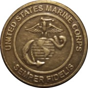 Token - United States Marine Corps (Toys For Tots Foundation) – reverse