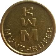 Token - KWM Münzprüfer (17.5 mm, thin letters) – reverse