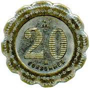 20 Centimes - A Consommer (Pig) – reverse