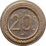 20 Centimes (184) – obverse