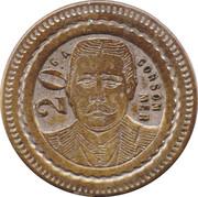20 Centimes - Louis Bruxelles – reverse