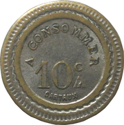 10 Centimes - Pofbar – reverse