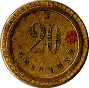20 Centimes - A Consommer (Anchor) – reverse