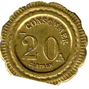 20 Centimes - G & H – reverse