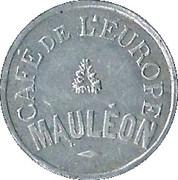 25 Centimes - Café de l'Europe (Mauléon) – obverse