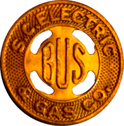 1 Bus Fare - S.C. Electric & Gas Co. (Columbia, SC) – obverse