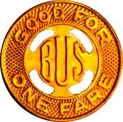 1 Bus Fare - S.C. Electric & Gas Co. (Columbia, SC) – reverse