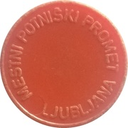 Token - LPP (Urban bus transport; orange) – reverse