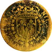 Token - Louis XIV (Council of the King) – reverse