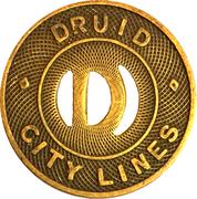 1 Fare - Druid City Lines (Tuscaloosa, AL) – obverse