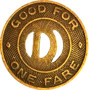 1 Fare - Druid City Lines (Tuscaloosa, AL) – reverse