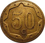 50 Centimes (Elephant) – reverse