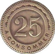 25 Centimes - A Consommer (Centaur) – reverse