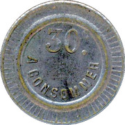 30 Centimes - A Consommer (Horseshoe) – reverse