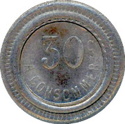30 Centimes - A Consommer (Lion) – reverse