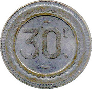 30 Centimes – reverse
