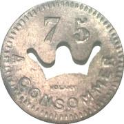 75 Centimes - Bussoz (Paris) – reverse