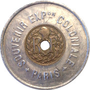 Encased Token - Exposition Coloniale 1931 – reverse