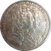 "France, State of Languedoc token ""Naissance du dauphin"" – obverse"