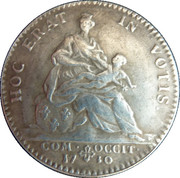 """France, State of Languedoc token """"Naissance du dauphin"""" – reverse"""