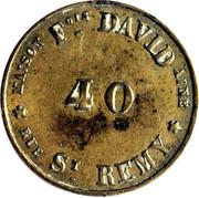 40 Centimes - Maison François David (Bordeaux) – reverse