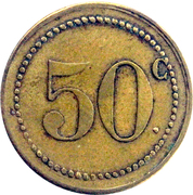 50 centimes - M. Camboulives - Cantinier - Rochefort [17] – reverse