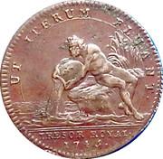 Token - Louis XV (Ut Iterum Fluant) – reverse