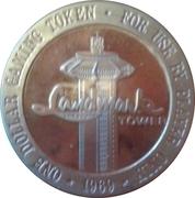 1 Dollar Gaming Token - Landmark Casino (Las Vegas, Nevada) – reverse