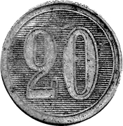 20 Centavos - Ingenio Ledesma – reverse