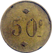 50 Centimes – reverse