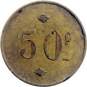 50 Centimes – reverse