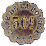 30 Centimes - Café de la Bourse (Paris) – obverse