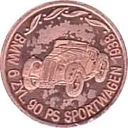 Token - 100 Jahre Deutsche Automobilgeschichte (BMW 1938) – obverse