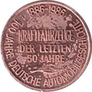 Token - 100 Jahre Deutsche Automobilgeschichte (BMW 1938) – reverse