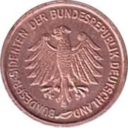 Token - Bundesprasidenten (Theodor Heuss) – reverse