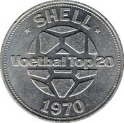Shell Token - Voetbal Top 20 (Willy Brokamp) – reverse