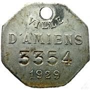 VILLE D'AMIENS 1929 – obverse