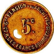 5 Centimes - Grande pension des Archives – obverse