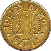 2½ Centimes - Julien Damoy - Paris [75] – reverse