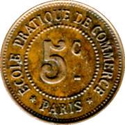 5 Centimes - Ecole pratique de Commerce - Paris [75] – reverse