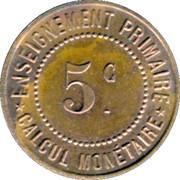 5 Centimes - Musée Scolaire Emile Deyrolle - Paris [75] – reverse
